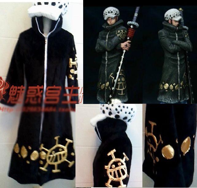 Japonês Dos Desenhos Animados Anime cosplay One piece Trafalgar Lei Cosplay Set Jacket + Pants + Cap + Inverno Manto