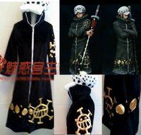 veste une pièce loi achat en gros de-Cartoon japonais Anime cosplay Une pièce Trafalgar Law Cosplay Costume Ensemble Veste + Pantalon + Cap + Cape d'hiver