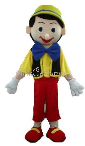 Cartoon Characters Costumes : Pinocchio costume fancy dress cartoon characters mascot