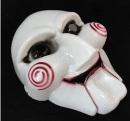 silikon menschliche gesichtsmaske Rabatt Maskerade Horror gruselige Party Maske Halloween Maske sah Maske Party Ornamente Maske Halloween Party Chainsaw Massacre für Cosplay Halloween