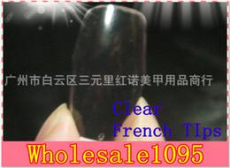 estilos de unhas de acrílico Desconto Novo 500 peças / lote Cobertura Transparente Claro Acrílico Estilo Dicas Artificiais Nail Art Falso Prego