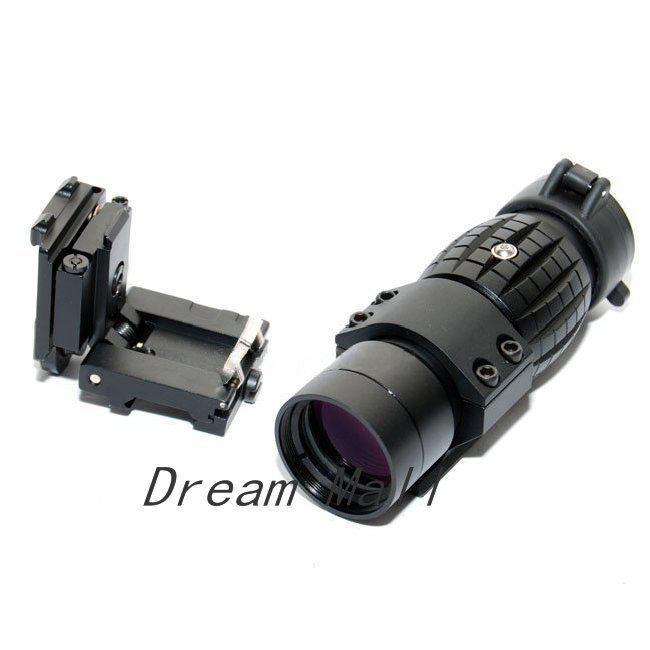QD 3X Vergrootglas Scope met Twist Mount voor AimPoint / 3 Magnifier Riflescope