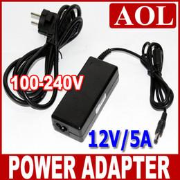 conector impermeable led pin Rebajas Tira de luz para uso RGB 5050 SMD, 3528 SMD 100V-240V AC / DC 60W 12V 5A Adaptador de corriente