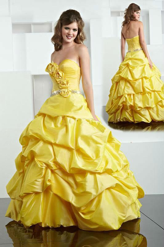Wedding dress color yellow