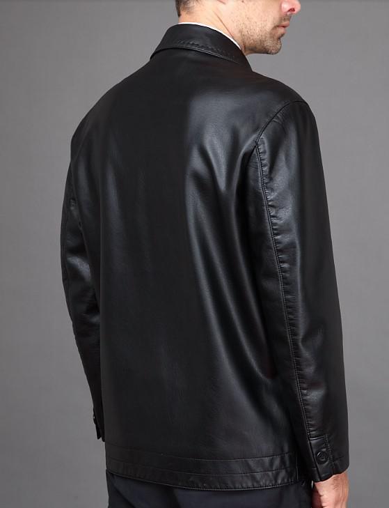 Frete grátis Men `s marca moda pele de ovelha couro genuíno Locomotive casaco de couro jaqueta