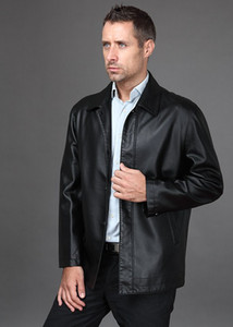 Wholesale Men s brand fashion sheep skin genuine leather Locomotive Leather Coat Jacket
