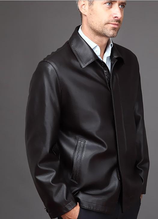 무료 배송 남자의 브랜드 패션 양 가죽 진짜 가죽 기관차 가죽 코트 재킷