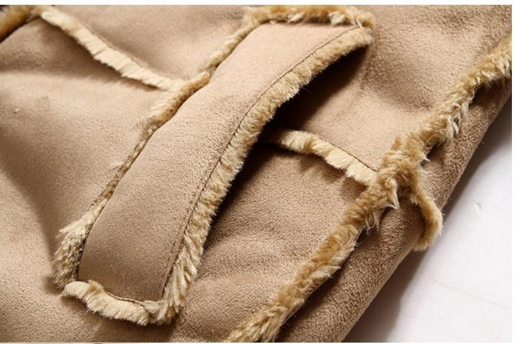 무료 배송 새로운 겨울 재킷 남자의 고급 airforce 모피 의류 몰려 추가 짙어 진 모피 가죽 먼지 코트 자켓 / M - XXL 추가