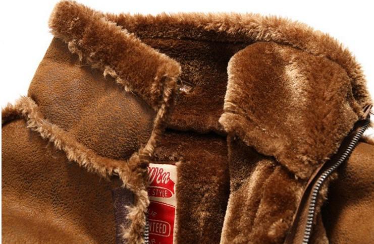 Freies Verschiffen neue Winter Jacken Männer High-Gradeair Force Pelz Kleidung hinzufügen Beflockung hinzufügen verdickte Pelz Leder Staubmantel Jacke / M-XXL