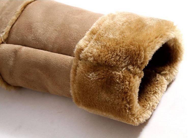 Gratis frakt Nya vinterjackor Mäns hög-Gradeair Fork kläder Lägg till flockning Lägg till förtjockad päls läder dammsuga jacka / m-xxl