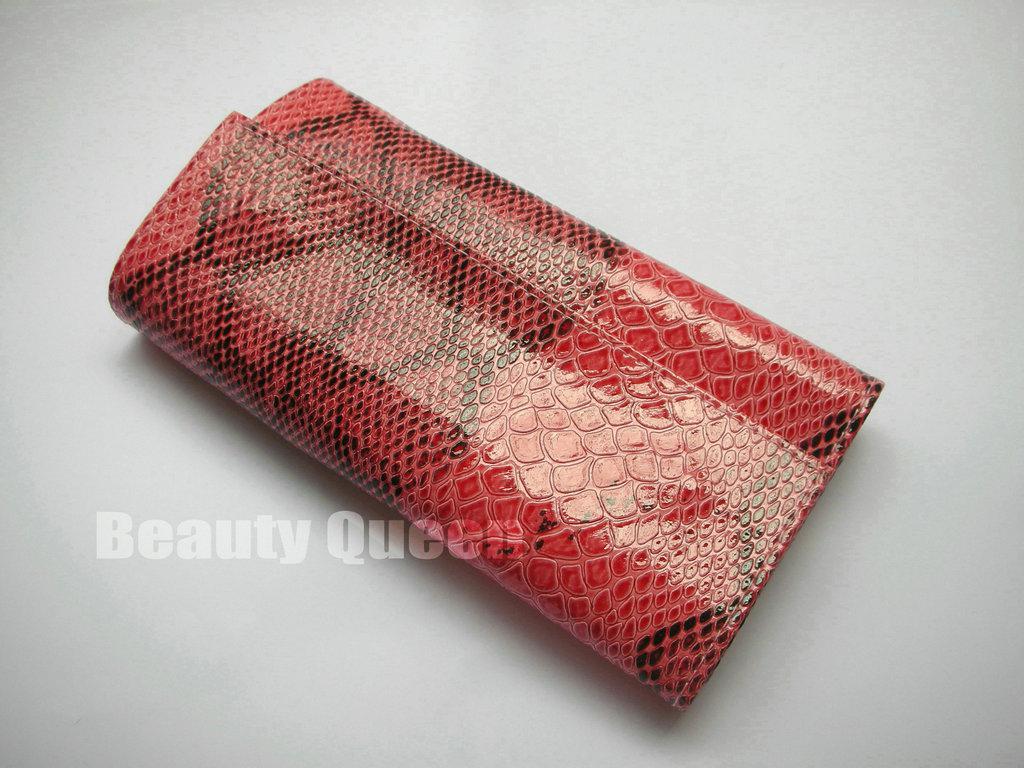 composição escova Sombra Set Sobrancelha Comb com Pink Arregace Padrão Cobra Bolsa compo a escova