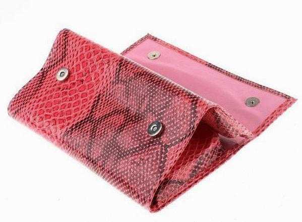 Makeup Brushes Eyeshadow Set Eyebrow Comb with Roll up Snake Pattern Pink Bag Make up Brush