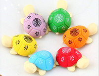 Wholesale Turtle Cute - Free Shipping Cute Carton Turtle Eraser,Mini Model Fancy Eraser,Coloful,Novelty Stationery