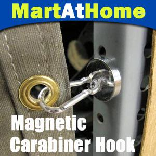 top popular Strong 35 LBS Neodymium Magnetic Carabiner Hook #BK022 @CF 2019