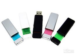 Wholesale Flash Drivers - 30 pcs usb flash driver Push-pull u disk 8GB custom free logo thumbdrives pendrives