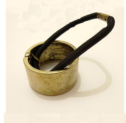 Punk paardenstaart houder metalen cirkel conus manchet haar stropdas vrouwen sieraden 12 stks
