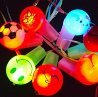 Wholesale led flash whistles for sale - Group buy Freeship Pieces LED Flashing Glow Cartoon Whistle Strap For Party Disco Wedding Chirstmas Gift