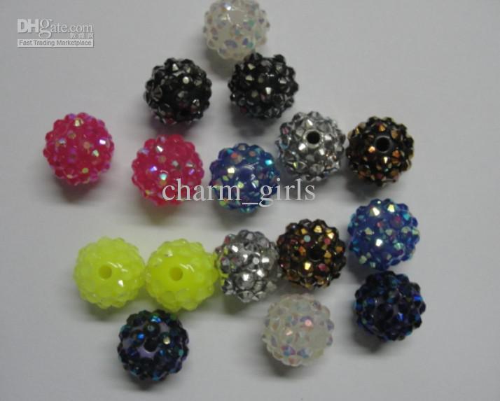 Grânulos da resina 100pcs 10 * 10mm frete grátis resina bolas de discoteca