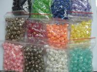 esferas de acrílico da cor da letra venda por atacado-Grânulos da resina 100pcs 10 * 10mm frete grátis resina bolas de discoteca