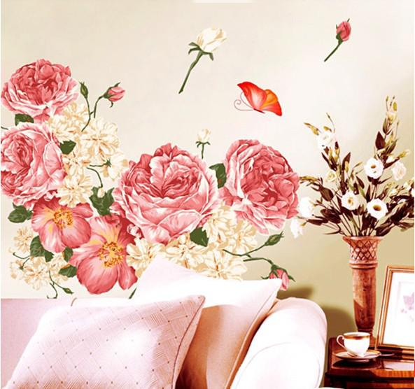 24*36 Flower Wall Stickers Peony Sticker Living Room And Bedroom Poster Wall  Sticker Art Wall Sticker Art Decor From Bai_wei98, $10.14| Dhgate.Com Part 49