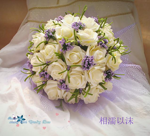 Wedding Bouquet Artificial Rose Flowers Bridal Throw Bouquet