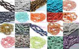 "Wholesale Gemstones Chips - Natural Chips Loose Beads Gemstone Freeform DIY Beads 34 "" 1 string"