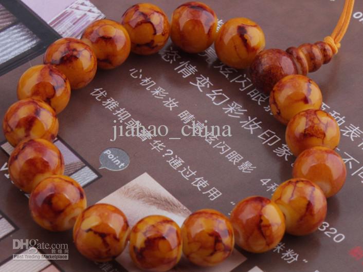 mão-de malha pedra natural pulseira Bodhi pulseira newJW002