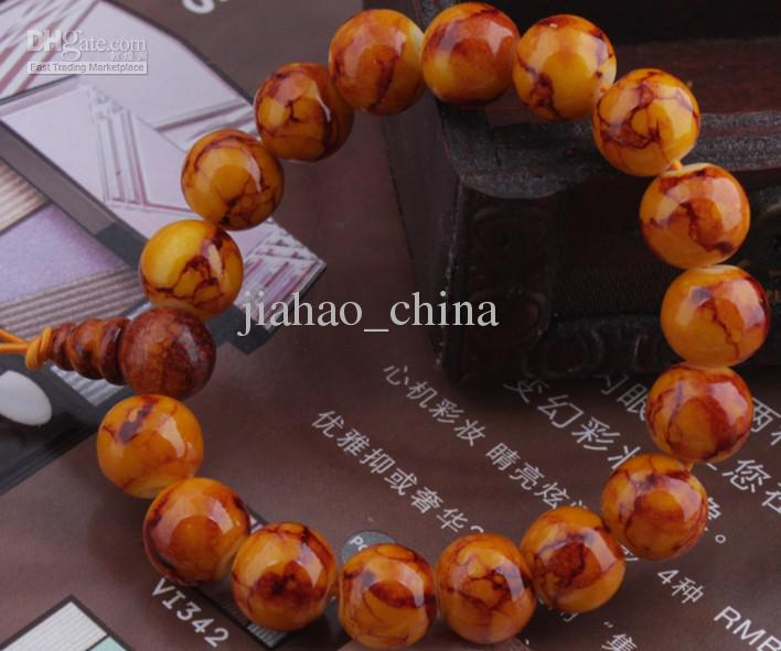 Natuursteen handgebreide armband Bodhi armband newjw002