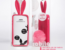 Wholesale Bunny Silicone Case - 20pcs lot Bunny Rabito silicone Skin Case Cover For iPhone 4 4G Rabbit