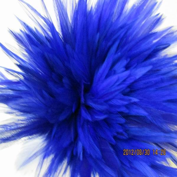 무료 배송 / 웨딩 파티 용 다크 블루 루스터 깃털 성능 약 10-15CM