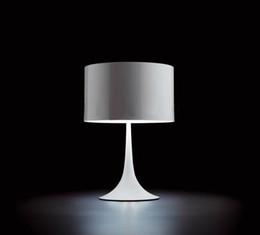Wholesale Warm Bedside Light - Designer Spun Light T2 Light FOLS Classic Design Modern White Metal Table Lamp Minimalist Bedroom Lamp Bedside Lamp Office Light Fitting