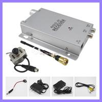 Wholesale Mini Spy Wireless - Wireless Mini pinhole micro CCTV security surveillance A V audio 6 IR LED RC spy Camera receiver kit