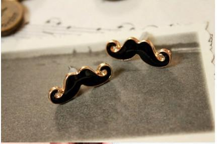 Nieuwe Collectie Vintage Leuke Sexy Snor Beard Stud Earring Sieraden Dames Stijlvolle 40pair / Partij