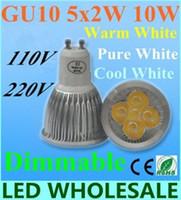 Wholesale Cree Led Lights Wholesale - Free shipping 10PCS High power CREE Led Lamp 15W Dimmable GU10 MR16 E27 E14 GU5.3 B22 Led spot Light Spotlight led bulb downlight lighting