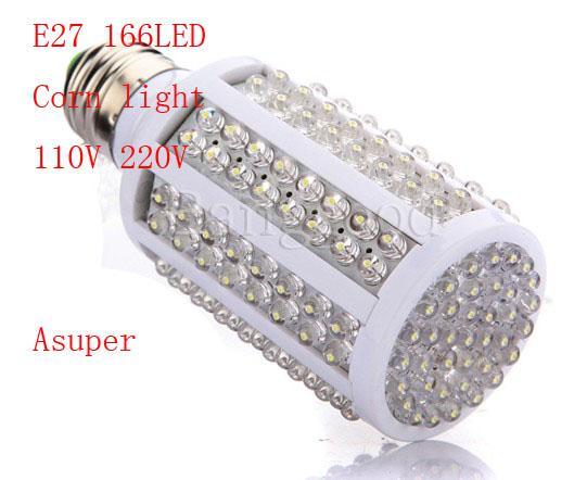 / E27 220V 10W 166 LED ampoule de vis de maïs LED lumière blanc froid 220V éclairage économie d'énergie