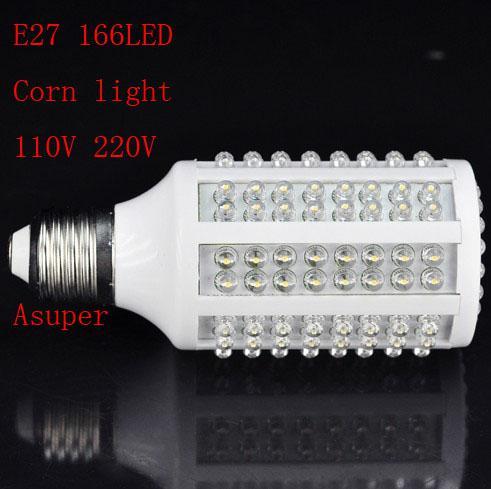 20 teile / los E27 220 V 10 Watt 166 LED Mais Schraube Birne Lampe Licht Kühles Weiß 220 V Beleuchtung Energieeinsparung