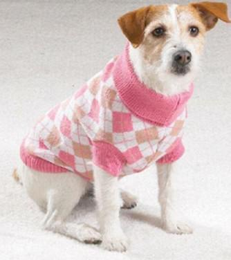 Pet Clothes Coat Apparel Sweater Classic Check Pattern Round Neck High Collar XS S M L XL Mixed Size