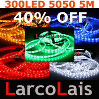 Wholesale Wedding Lights For Car - 5M 16FT 300 SMD 5050 LED Waterproof Flexible Strip Light for Car Christmas Wedding 300LED White Blue