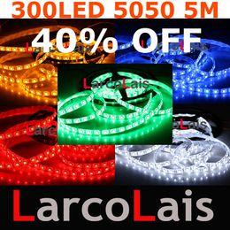 Canada 5M 16FT 300 SMD 5050 LED étanche bande de lumière flexible pour voiture mariage de Noël 300LED blanc bleu Offre