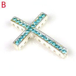 Wholesale Sideways Crosses For Bracelet Making - Alloy Diy jewelry charms sideways Cross Jewelry for bracelet accessores,western pendants for jewelry making PT-638