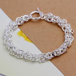 Nickelfreie silberne ketten online-H033 Pretty Bling 925 Silber Knoten Kette Armband, Nickel Frei Antiallergic Schmuck Fabrik Preise