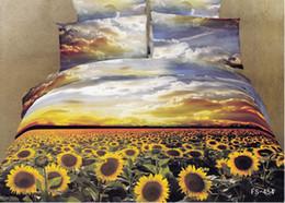 Wholesale Sunflower 3d Bedding - 100% Cotton Queen bedding quilt doona duvet covers sets sunflower FS-454