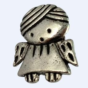 prata ank tibetano espaçador banda colar w / bighole a16441
