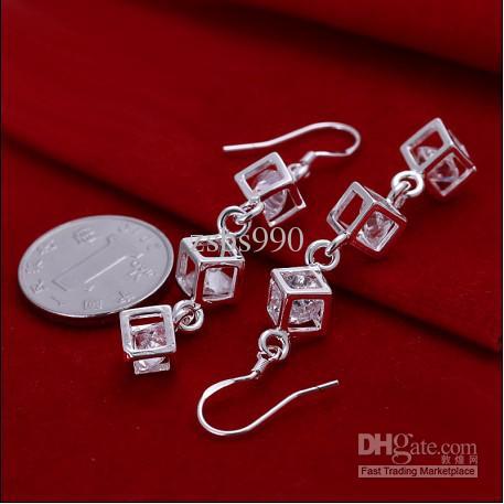 100% nagelneue hohe Qualität 925 silberne Zirconohrringart und weise Damenschmucksachen geben Verschiffen 10pair frei