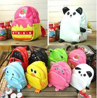 Wholesale Bag Zoo Pack - Children's cute Animal backpack children's school bags boys and girls shoulder bag zoo pack 10pcs lot.