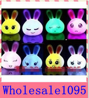 Wholesale Rabbit Night Light Wholesale - Christmas gift 10 s lot NEW 100% The Most Lovely Colorful Night Light Colorful Lucky Rabbit