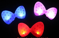 Wholesale Hairband Chains - Bowknot LED Hair hoop Luminous toys Glow in the Dark Hairband Pop in performing Bar