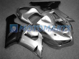 Wholesale Custom Fairings For Motorcycles - Custom Silver Black Fairing kit For KAWASAKI Ninja ZX6R 05 06 ZX-6R 636 05-06 ZX 6R 2005 2006 6R Motorcycle Fairings set HP35