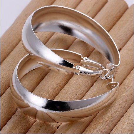 Brand new haute qualité 925 argent en forme d'oeuf boucles d'oreilles bijoux de mode livraison gratuite 10 paire / lot