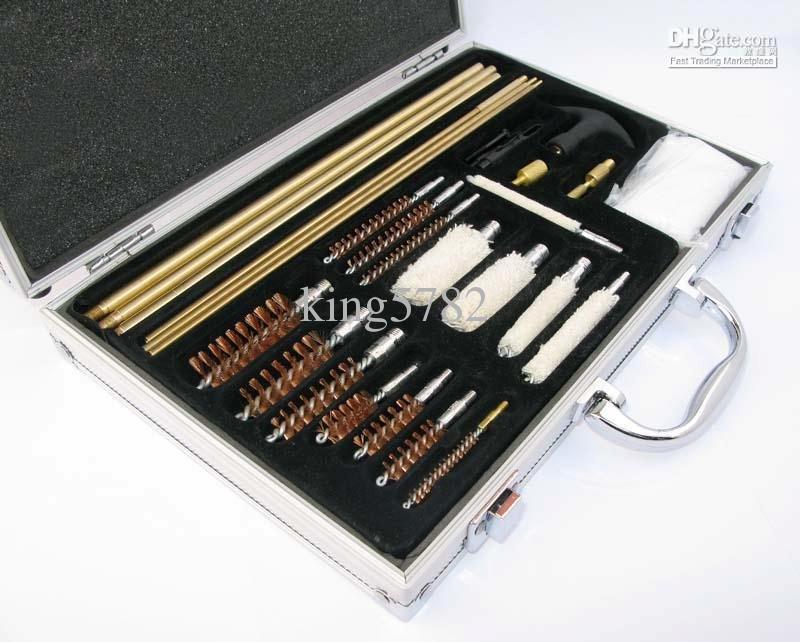Kit de limpieza cepillo conjunto completo para rifle arma con caja envío gratis